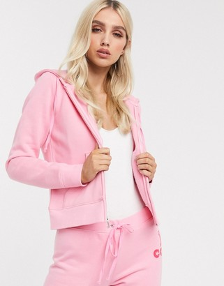 Juicy Couture main star juicy french terry robertson jacket pink lemonade