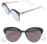 Christian Dior Women's Diorama 55Mm Retro Sunglasses - Matte Blue/ Pink
