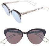 Christian Dior Women's Diorama 55Mm Retro Sunglasses - Matte Blue/ Pink