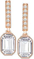 Swarovski Rose Gold-Tone Octagon Crystal Drop Earrings