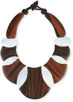 Viktoria Hayman Bellissima Wood & Mother-of-Pearl Collar Necklace