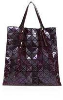 Bao Bao Issey Miyake Prism Basic Faux Metallic Leather Tote