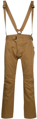 DSQUARED2 zip detail cargo trousers with suspenders