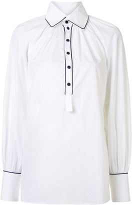 Dice Kayek Poplin Gathered Shirt
