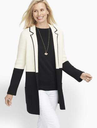 Talbots Milano Stitch Sweater Jacket - Colorblock