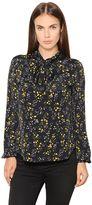 Belstaff Floral Printed Silk Blend Shirt