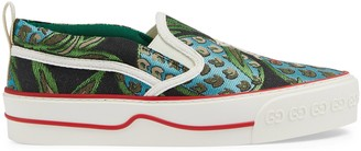 Gucci Women's embroidered slip-on sneaker