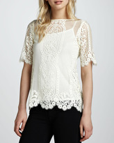 Nanette Lepore Merry Go Round Lace Top