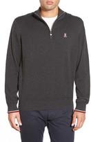 Psycho Bunny Pima Cotton Quarter Zip Sweater