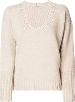Agnona fur trim sweater - women - Mink Fur/Cashmere/Wool - L