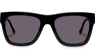 Le Specs Luxe Wrecking Ball 56MM Modern Rectangle Sunglasses