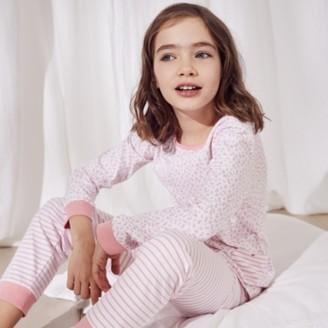 The White Company Ditsy Floral-Print Pyjamas (1-12yrs), White/Pink, 7-8yrs