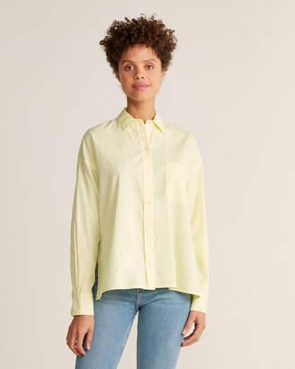 Vince Lemon Glow Long Sleeve Boxy Shirt