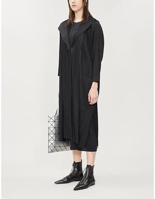 Pleats Please Issey Miyake Pleated woven coat