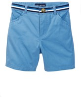 Andy & Evan Blue Belted Twill Short (Toddler & Little Boys)