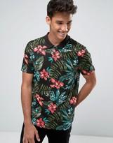 Asos Tropical Leaf Print Polo