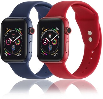 Posh Tech Silicone Bands for Apple Watch - Set of 2 - 42mm/44mm