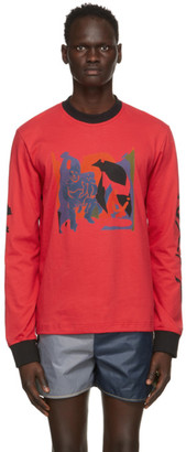 Bethany Williams Red The Magpie Project Edition Graphic Long Sleeve T-Shirt
