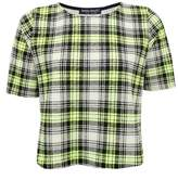 Select Fashion Fashion Womens Yellow Lime Check Box Fiit Tee - size 12