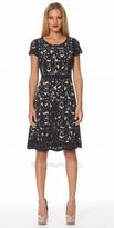NUE by Shani Laser Cut Flared Dress