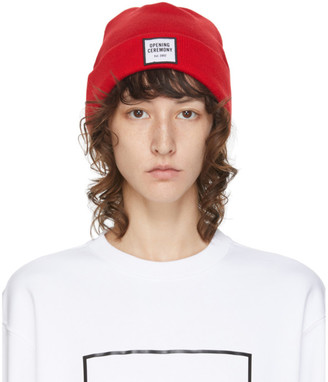 Opening Ceremony Red Logo Beanie