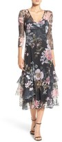 Komarov Women's Chiffon & Lace A-Line Dress