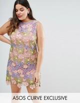 Asos SALON 3D Lace Applique Floral Mini Aline Dress