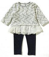 Pippa & Julie Baby Girls 12-24 Months Floral-Print Top & Leggings Set