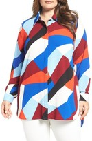 Vince Camuto Plus Size Women's Marina Blocks Tunic