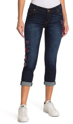 KUT from the Kloth Catherine Floral Embroidered Boyfriend Jeans