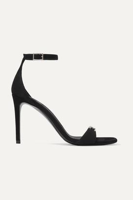 Balmain Natalya Logo-embellished Suede Sandals - Black