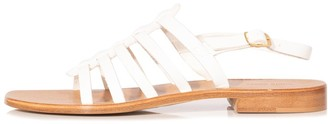 Mansur Gavriel Strappy Sandal in White