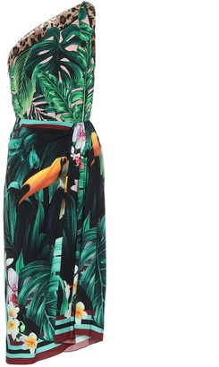 Dolce & Gabbana Printed stretch-silk midi dress