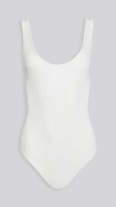 Vince Scoop Neck Thong Bodysuit