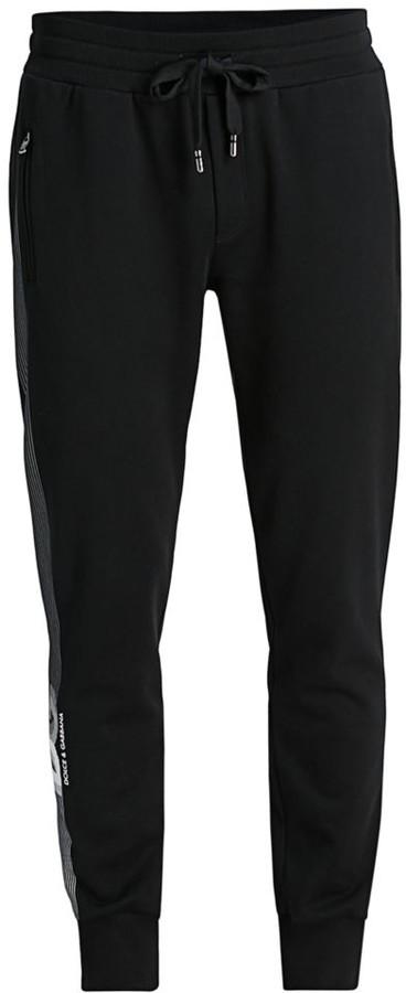 Dolce & Gabbana Side Tape Logo Sweatpants