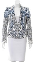 Roberto Cavalli Fitted Printed Blazer