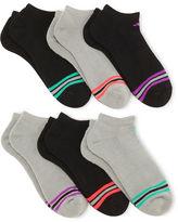 adidas 6-pk. Striped No-Show Socks