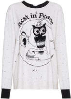 Ashish Sequin Embellished Rest In Peace T Shirt