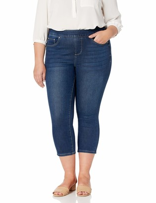Jag Jeans Women's Plus Size Maya Skinny Pull On Crop Jean