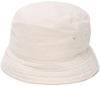 Y-3 Logo Embroidered Bucket Hat
