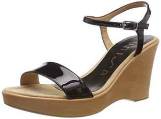 Unisa Women's Rita_19_pa Ankle Strap Sandals, Black