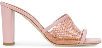 Malone Souliers Pvc Mesh Strap 100mm Leather Sandals