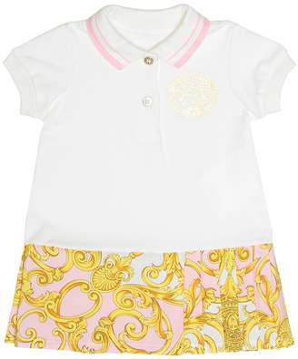 Versace Kids Cotton dress and bloomers set