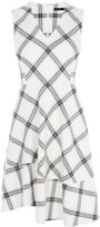 Karen Millen Bias Check Dress - Cream/multi