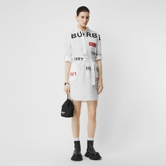 Burberry Horseferry Print Cotton Tie-waist Shirt Dress