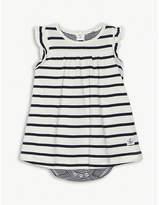 Petit Bateau Striped cotton bodysuit dress 1-12 months