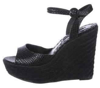 e4122c0a0af Suede Espadrille Wedge Sandals