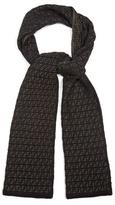 Fendi Logo Intarsia-knit Wool Scarf