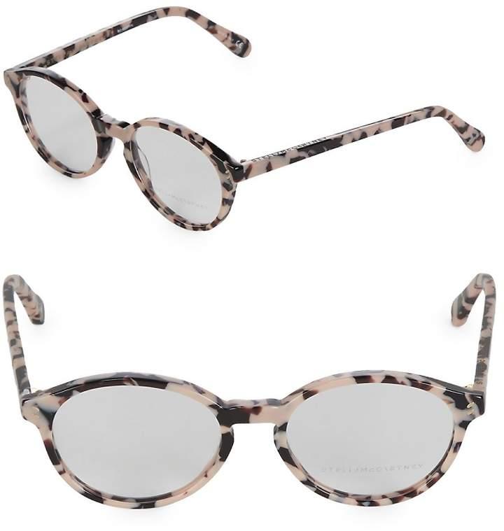 Stella McCartney Women's 51mm Tortoise Shell Round Optical Glasses