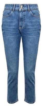 Dorothy Perkins Womens Petite Midwash Blue Slim Denim Jeans, Blue